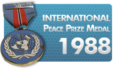 International Peace Prize Medal 1988